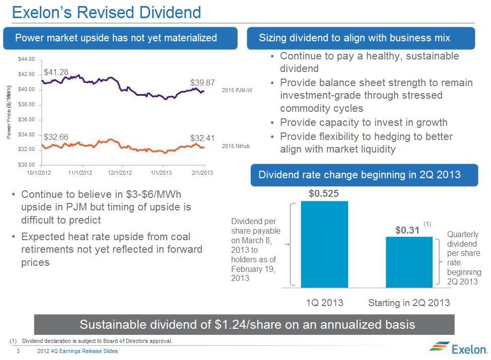 Exelon dividend cut
